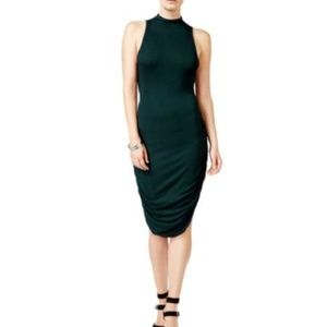 chelsea sky  Dress Ruched Mock-Neck Open Back
